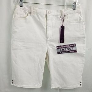 Gloria Vanderbilt Women's Denim Bermuda Shorts 14